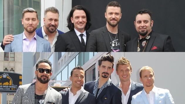 *NSYNC:  Albert L. Ortega/Getty Images; Backstreet Boys: Jonathan Leibson/WireImage