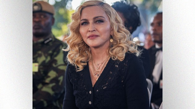 Madonna attends the opening ceremony of the Mercy James Children's Hospital; AMOS GUMULIRA/AFP via Getty Images