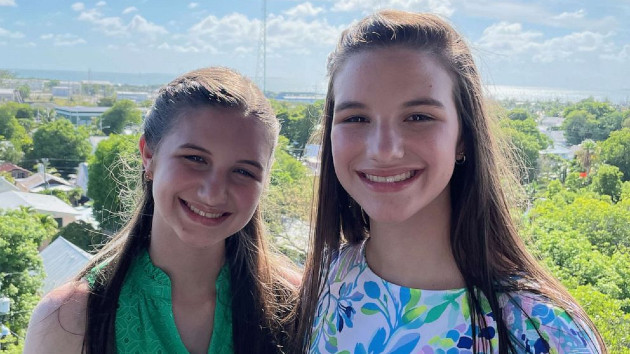 (Hadley and Delaney Robertson) Hadley and Delaney Robertson, 15, created the BraceTrack app to help people who use scoliosis braces